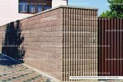 Блок декоративный канелюрный угловой (заборный)